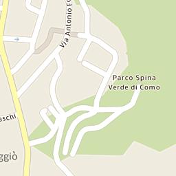 Mappa di Como - Quartiere Acquanera - CAP 22100, stradario e ...
