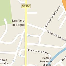 Mappa di Bagno di Romagna - Via Nazario Sauro, 84 - CAP 47021 ...